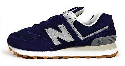 new balance 574 classic running trainers in navy
