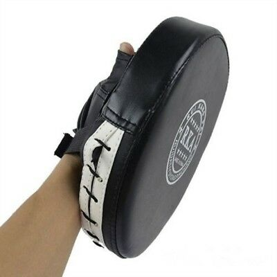New 2Pcs Focus Target Punch Pad Boxing Mitt Training Glove Karate Thai Kick AU