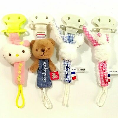 Baby Kid Child Toddler Nipple Pacifier Clip Holder Saver Link with Plush Toy 0+