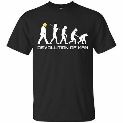 Anti Donald Trump Funny T-shirt -  Devolution Of Man Anti Trump Impeach S-3XL
