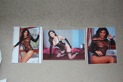 Clearance Sunny Leone 3 stockings nudes two 10x8's plus A4 12x8 photos as seen