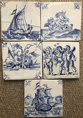5 Delft tile reproduction, seconds