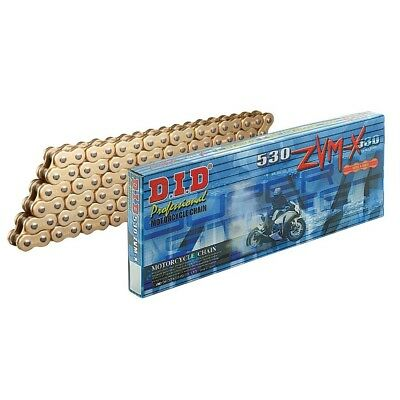 DID Gold Heavy Duty X-Ring Motorcycle Chain 530 ZVMX x 118 Links