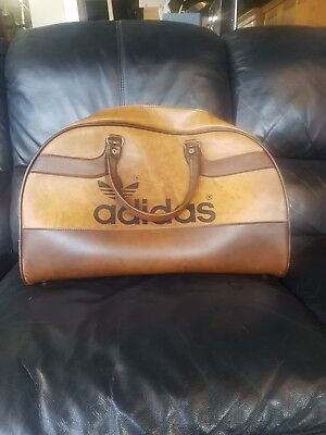 Adidas Vintage Peter Black Iconic Sports Holdall - Brown   Great Condition 729aa731dcc40