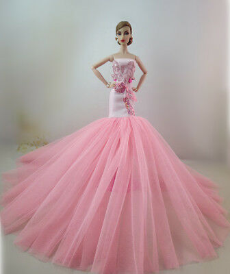 Pink Fashion Royalty Princess Dress/Clothes/Gown For 11 in. Doll S539