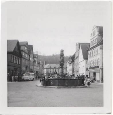 GERMANY SCHWABISCH GMUND TOWN STATUE FOUNTAIN OLD/VINTAGE PHOTO-SNAPSHOT-x2455