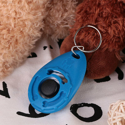 6497 Pet Dog Training Clicker Trainer Teaching Tool Multi Color With Keychain