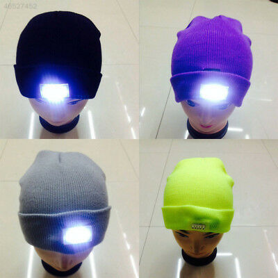 4182 5LED Cap Knitted Wool Hat Winter Warm Beanie Angling Hunting Camping Hot