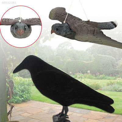 65F0 Flying Hawk Pest Deterrent Fake Bird Crow Hunting Repeller Collectible