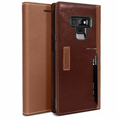 OBLIQ® Galaxy Note 9 Cases [K3 Wallet] Hand Made Leather Wallet Case Cover