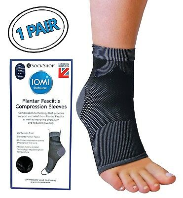 IOMI - Pain Relief Plantar Fasciitis Compression Sleeve Socks with Arch Support