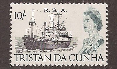 Tristan da Cunha 1965 10 shillings Ship SG84a Mint Never Hinged MNH   a1815
