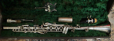 Rare 1900's- 1930's VINTAGE CLARINET Cincinnat, Ohio Made in USA - Metal