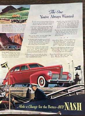 ORIGINAL 1940 NASH Automobile Print Ad The One You've Always Wanted
