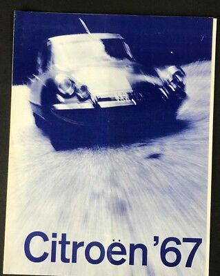 Vintage 1967 CITROEN Sales Brochure
