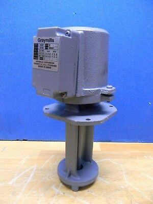 Graymills Cast Iron Immersion Coolant Replacement Pump 1/8HP 230/460V IMV08-F