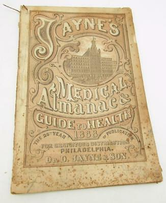 Dr Jayne Medical Almanac & Guide To Health 1868 50 Pages Akron Ohio Sechrist Co