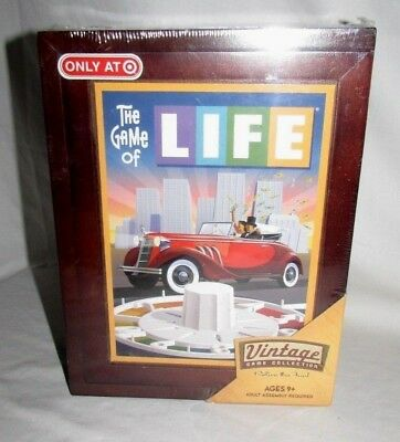 Brand New The Game Of Life Board Game Vintage Collection Wooden Box Book Shelf