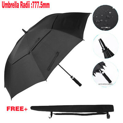 Extra Large Double-canopy Windproof Waterproof Automatic Open Golf Umbrella