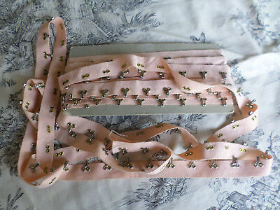 Pink Flesh French Corsetry Tape  LOT 6.5 Mts Vintage but NEW  Underwear Girdle