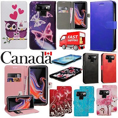 For Samsung Galaxy Note 9 2018 New Stylish Leather Flip Wallet Phone Case Cover