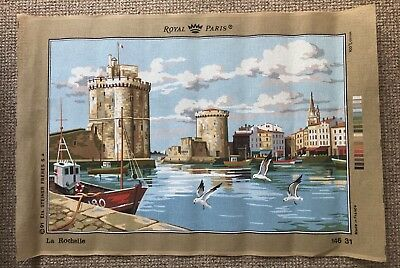 Large Unused Royal Paris Tapestry Canvas. La Rochelle France 60cm X 89cm