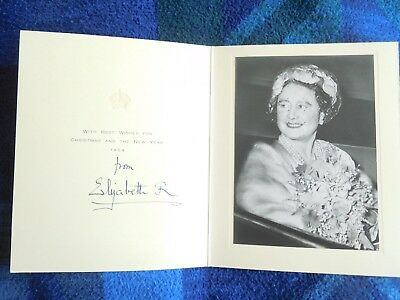 Queen Elizabeth the Queen Mother- lovely signed Chirstmas card from 1959