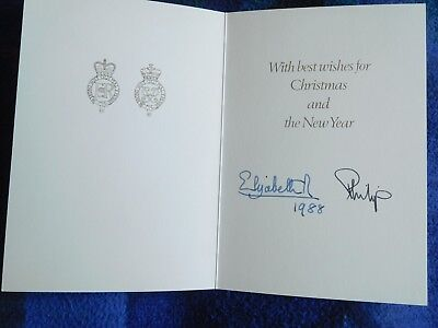 Queen Elizabeth and Prince Philip - Chirstmas card from 1988