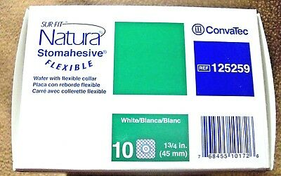 ConvaTec STOMAHESIVE SKIN BARRIER OSTOMY WAFER 125259 BOX OF 10 / FLANGE 1 3/4""
