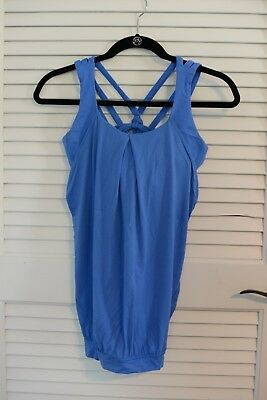 Lululemon Athletica Womens Tank with Bra Top Free To Be 2in 1 size 6
