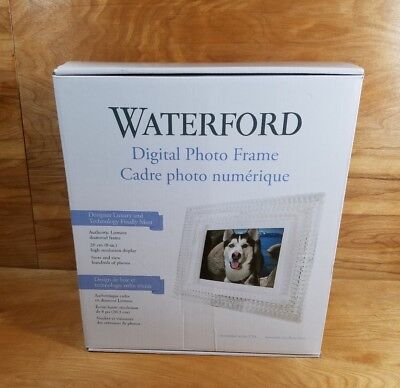 "NEW!! Waterford Crystal Lismore Diamond Digital Photo Frame 8"" #MD8004"