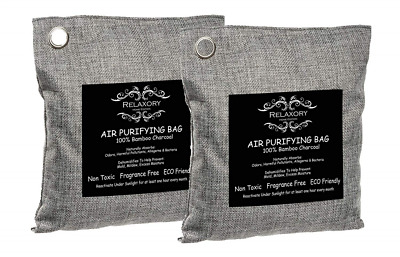 2 Pack - 200g Relaxory Activated Charcoal Bag Natural Air Purifying Dehumididier