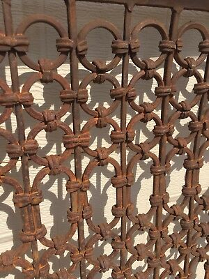 """Antique Grate Architectural Salvage Window Screen - heavy 51 pounds 50x36"""""""