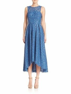 197efeb8211c Sold out $650 Shoshanna Blue Midnight Coraline Floral Lace Dress Sz 6 NWT