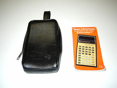 Vintage Texas Instruments Business Analyst-I Leather Case & Instruction Booklet