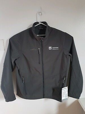 Eddie Bauer Xxl Mens New Softshell Outdoor Jacket Grey All-climate System