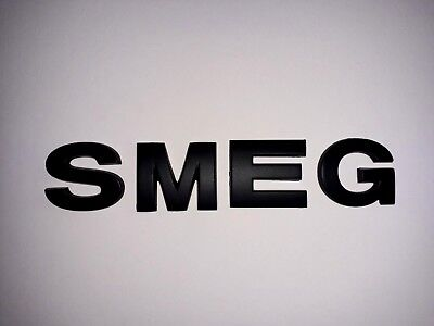 New 3D Replacement Black Letters For Kettle, Fridge, Cooker Etc.. Spelling Smeg
