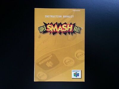 Super Smash Bros. Instruction Booklet for Nintendo 64 (USA version, N64)