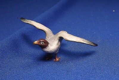 "Vintage To Antique Vienna Bronze Sea Gull 2 3/4"" Wing To Wing Fine Cold Painting"