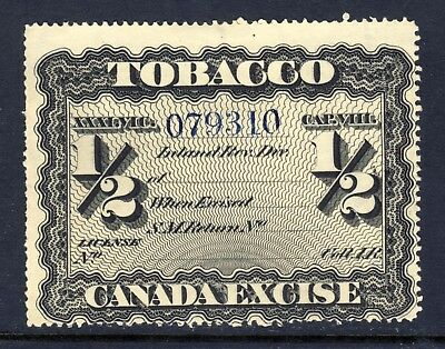 Canada Used Canada Excise 1/2 Tobacco Tax Stamp Block W.M. small number