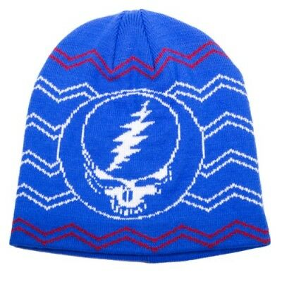 Grateful Dead Steal Your Face Beanie Knit Hat ~ Brand New ~ Ships Same Day Free!