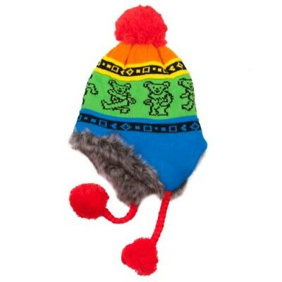Grateful Dead Dancing Bears Knit Hat ~ One Size Fits All ~ Brand New/Ships Free!