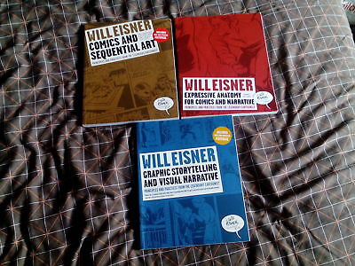 Comics and Sequential Art by Will Eisner, 3 volumes