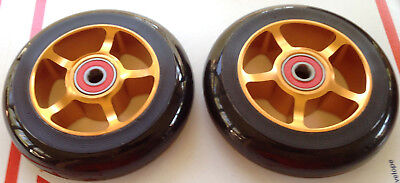 4x1 WHEELCHAIR CASTERS WHEELS QUICKIE, INVACARE, TILITE, GOLD, PAIR