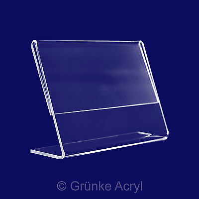 L Stand A4, 100 x Landscape, Acrylic Stand, Table Top Stand, Display