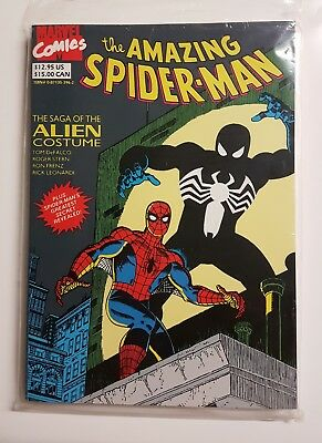 SPIDERMAN: THE SAGA OF THE ALIEN COSTUME, 1988 Excellent Condition