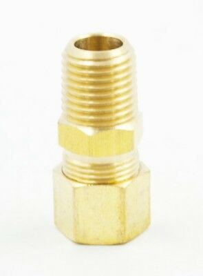 "Adapter Compressor Pneumatic 1/8"" NPT Size 3/8"" Compression Tube Union Connector"