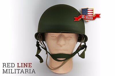 WW2 Military Steel M1 Helmet WWII Liner ABS Outdoor Army Equipment New USA