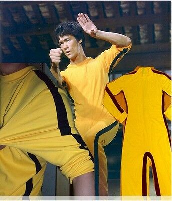Vintage Bruce Lee Classic Game Of Death Costume Kung Fu Yellow Jumpsuit Uniform