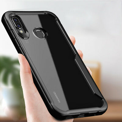 For Huawei Honor Play Hybrid Shockproof Soft Bumper Slim Clear Back Case Cover